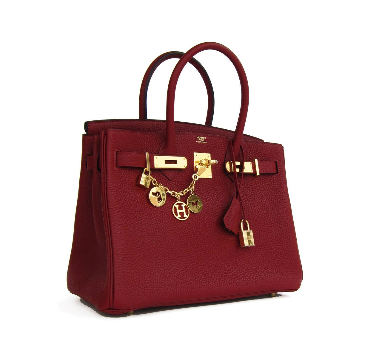 Hermes Rouge H 30cm Birkin Gold Hardware GHW Red Regal