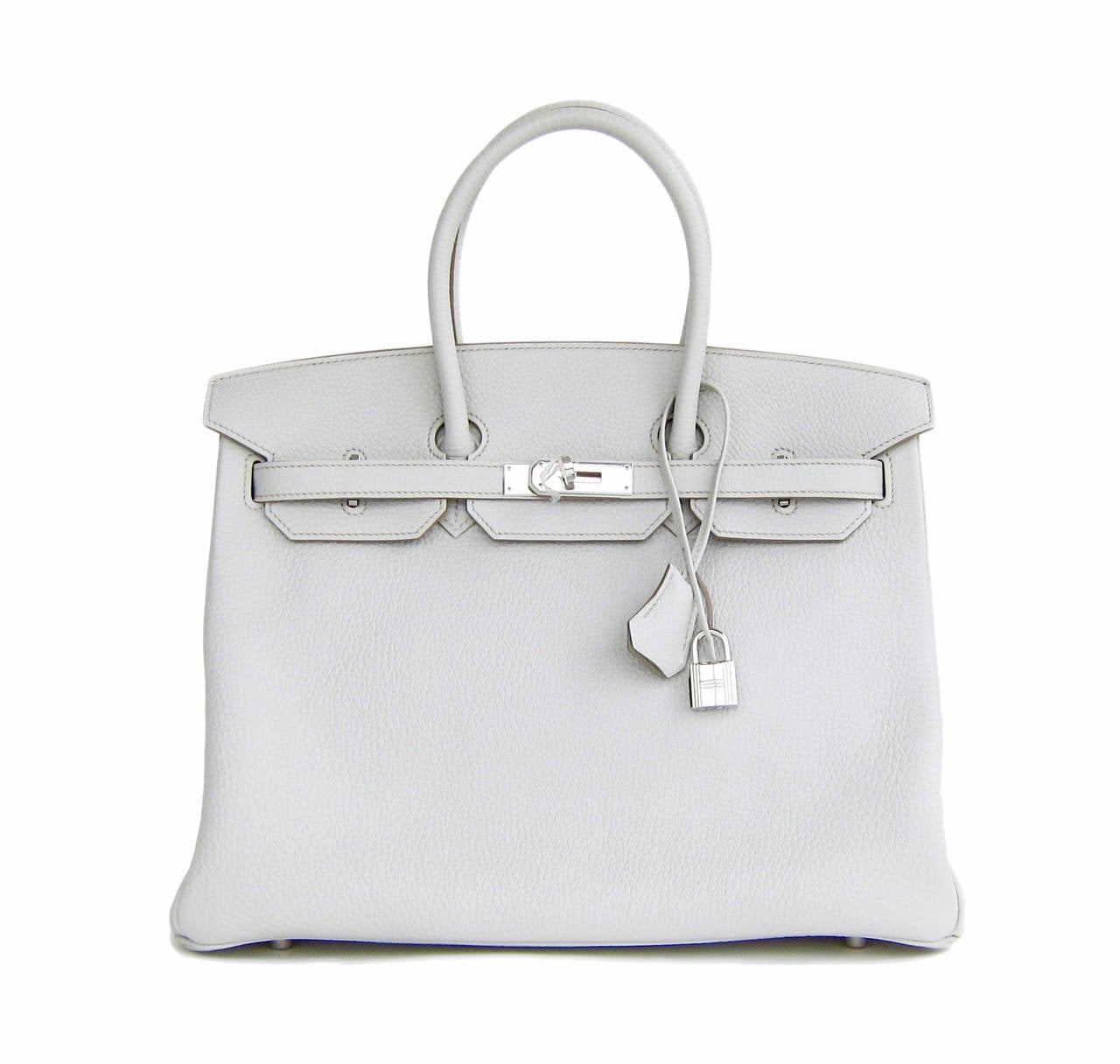 Hermes Gris Perle Fjord 35cm Birkin Bag Palladium Sophisticated 8