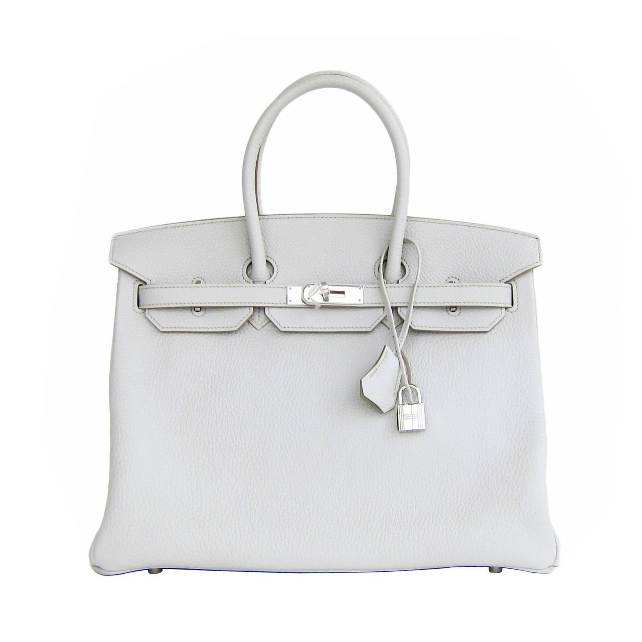 fa6743261e8f Hermes Gris Perle Fjord 35cm Birkin Bag Palladium Sophisticated For Sale