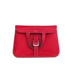 Hermes Rouge Casaque Red Halzan 4-way Clemence Crossbody Bag