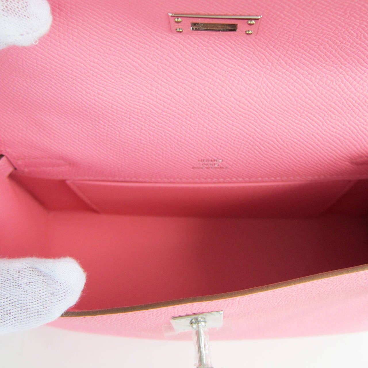 Hermes Rose Confetti Epsom Kelly Pochette Pink Clutch Bag Love For ...