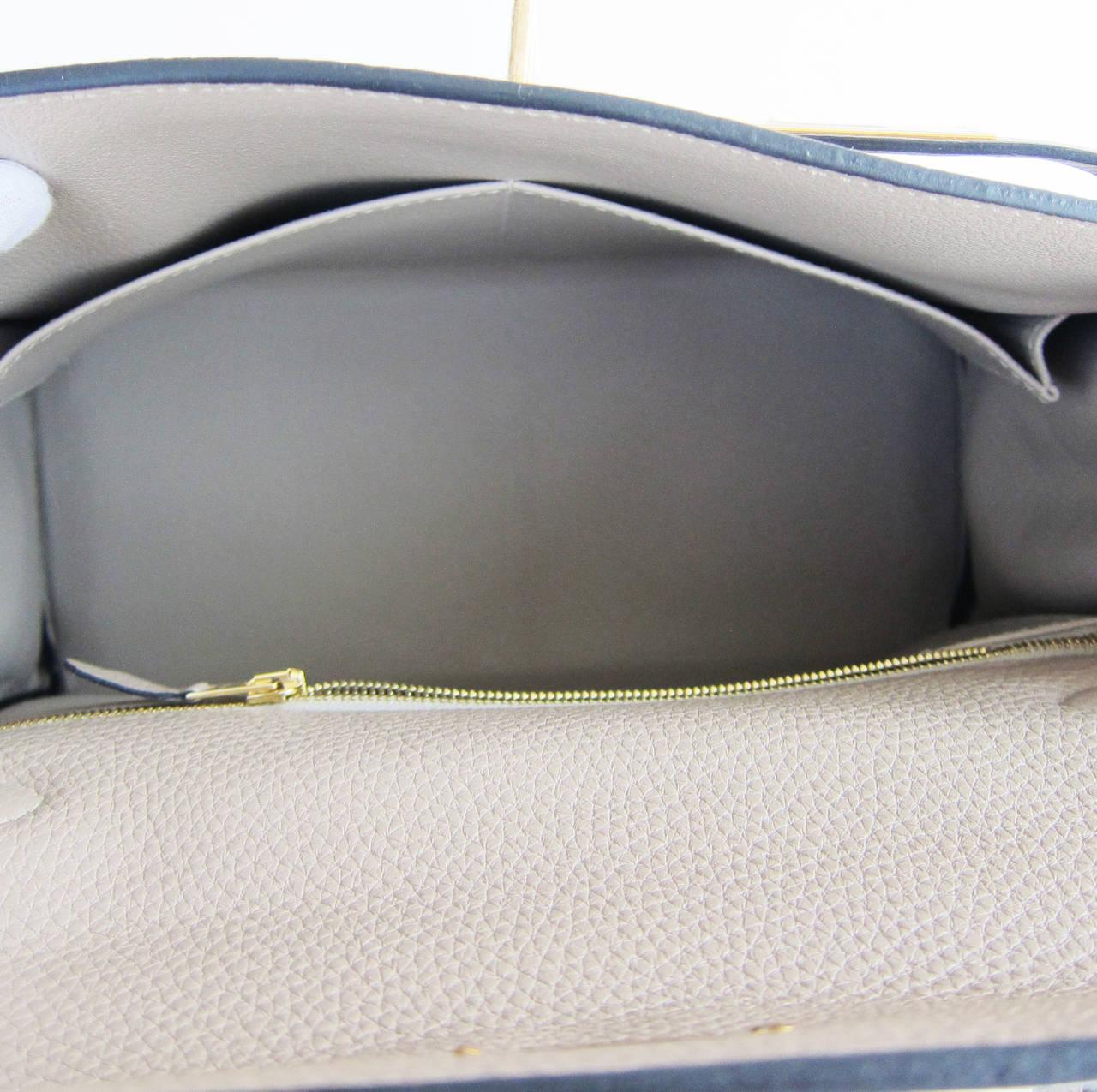 Hermes Gris Tourterelle 28cm Togo Kelly Gold GHW Shoulder Bag Perfection 8