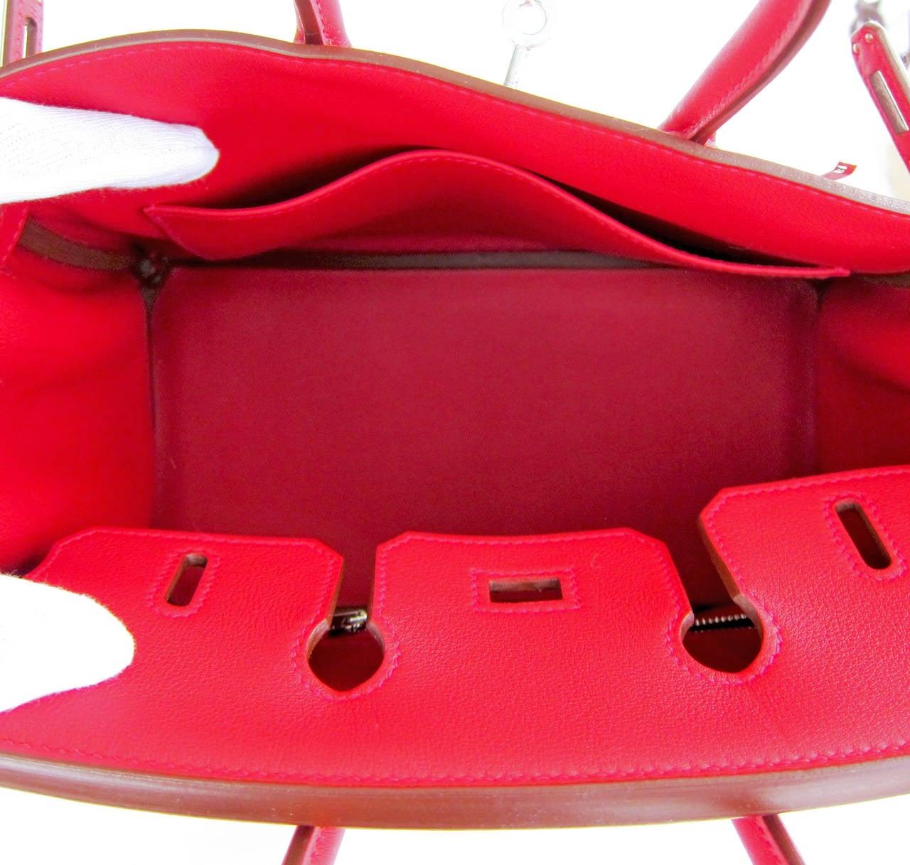 Hermes Vermillion Lipstick Red 25cm Swift Leather Birkin Satchel ...