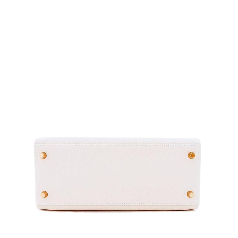 Hermes Craie 28cm Chalk Togo Kelly Gold GHW Shoulder Bag Classic 7
