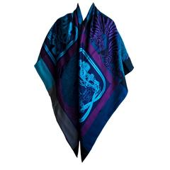 Hermes Exceptional Beaded Brides de Gala Reversible Silk Cashmere Scarf Shawl