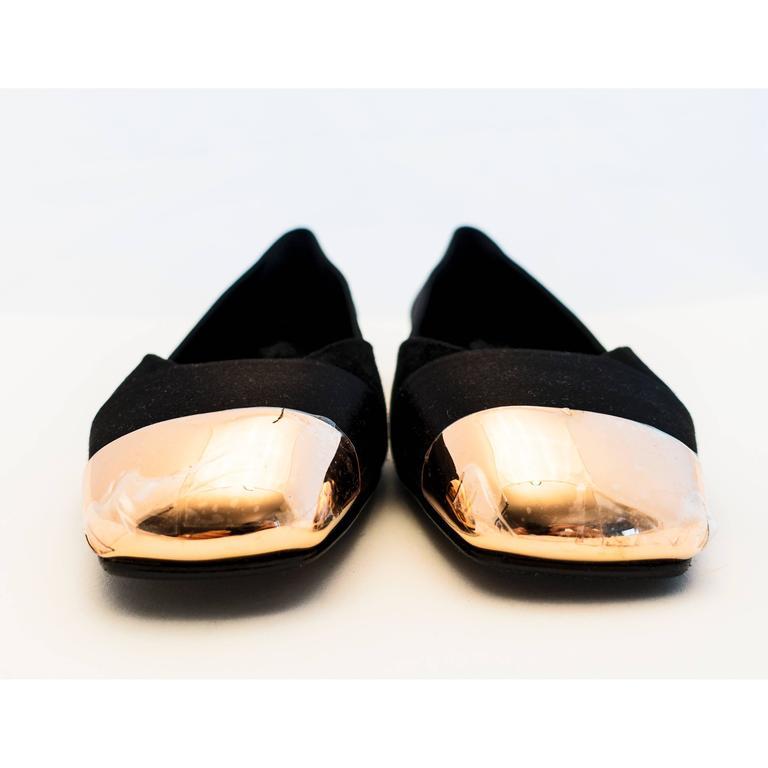 Hermes Ladies' Satin Suede Ballerina Flat Shoes 40 or 9.5 or 10 Below Retail 3