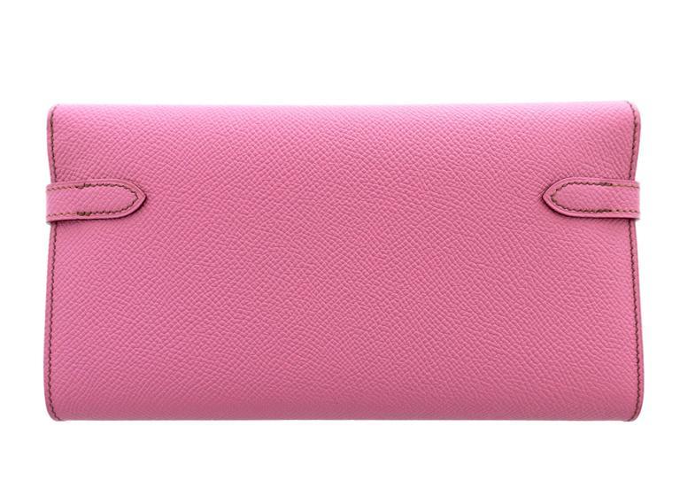 8daae0298c Hermes Bubblegum 5P Pink Epsom Kelly Wallet Clutch T Stamp Grail Store Fresh.  Pristine Condition