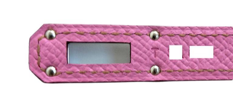 287aa60fbf Hermes Bubblegum 5P Pink Epsom Kelly Wallet Clutch Grail Pink at 1stdibs