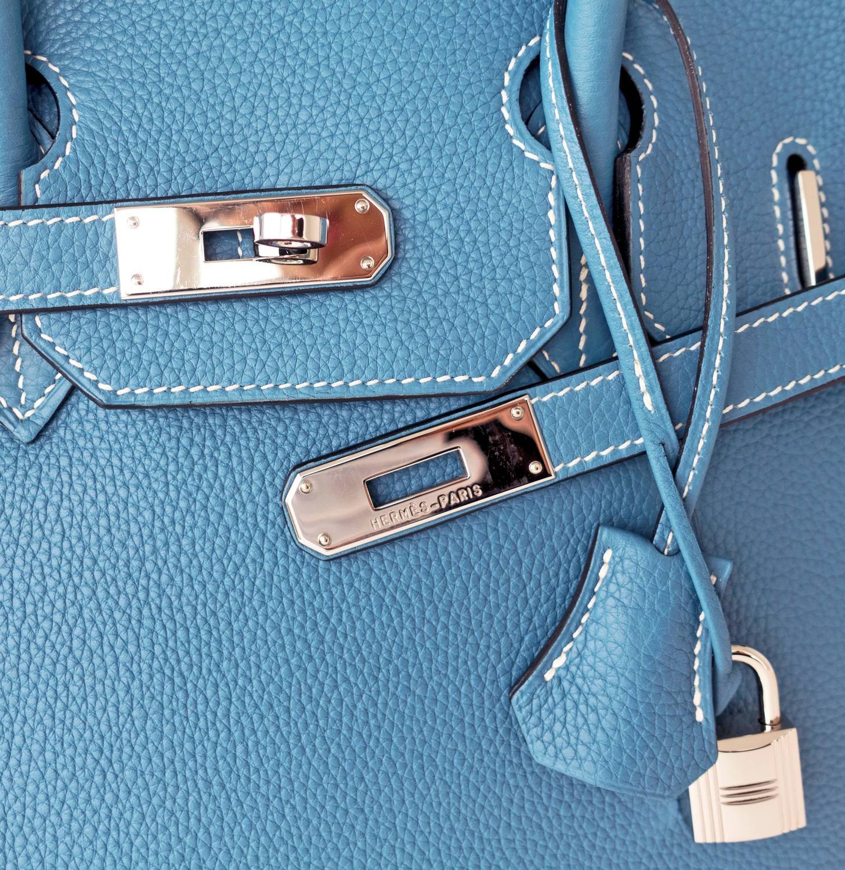 Hermes Soufre Epsom Leather 35cm Birkin with Palladium Hardware