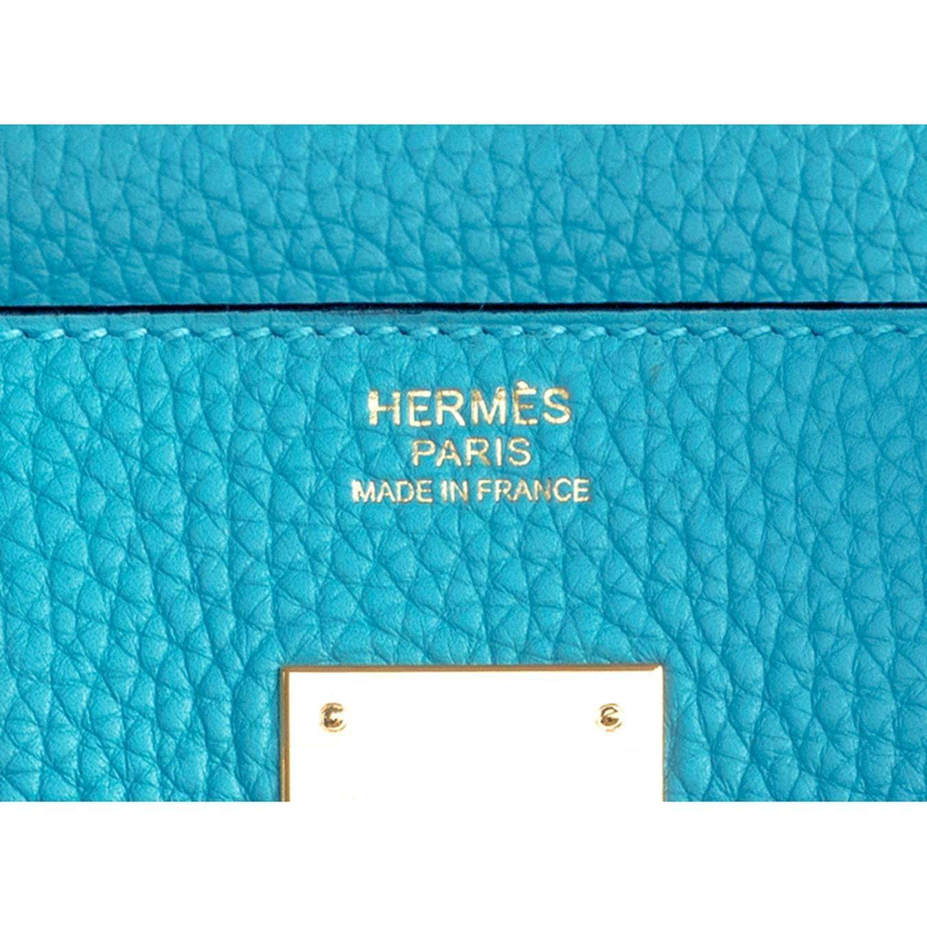 hermes birkin 30 epsom leather blue paon phw