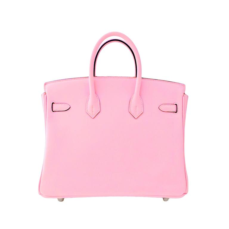 Hermes Rose Sakura Pink 25cm Swift Leather Birkin Satchel Bag Jewel 3