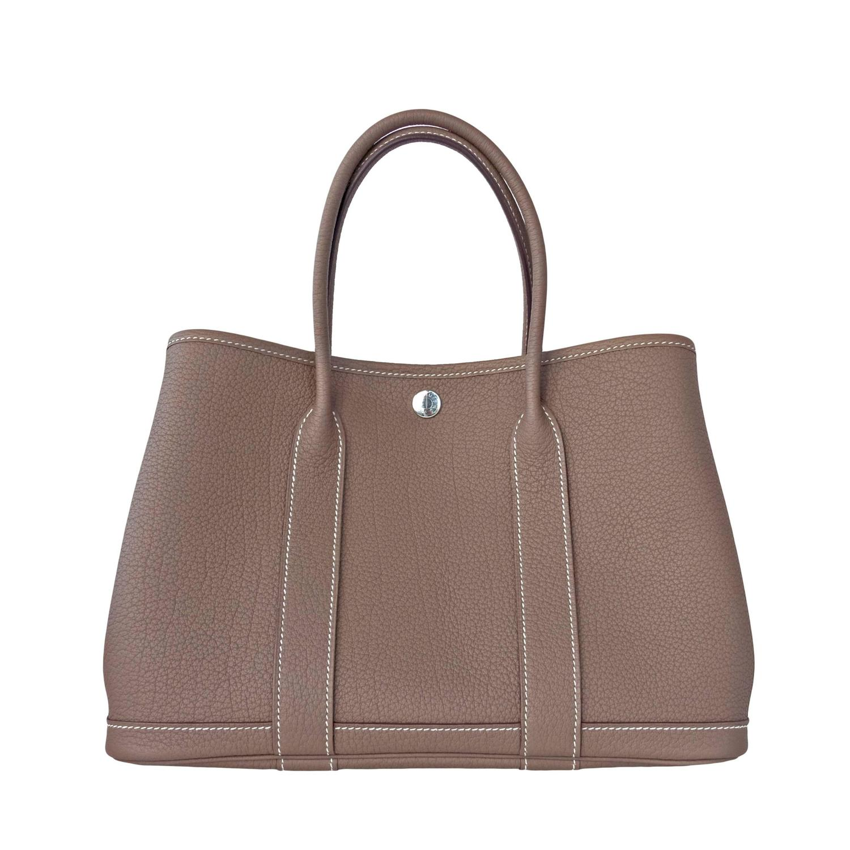 Hermes Garden Party Medium Izmir Blue Inexpensive Clutch Bags