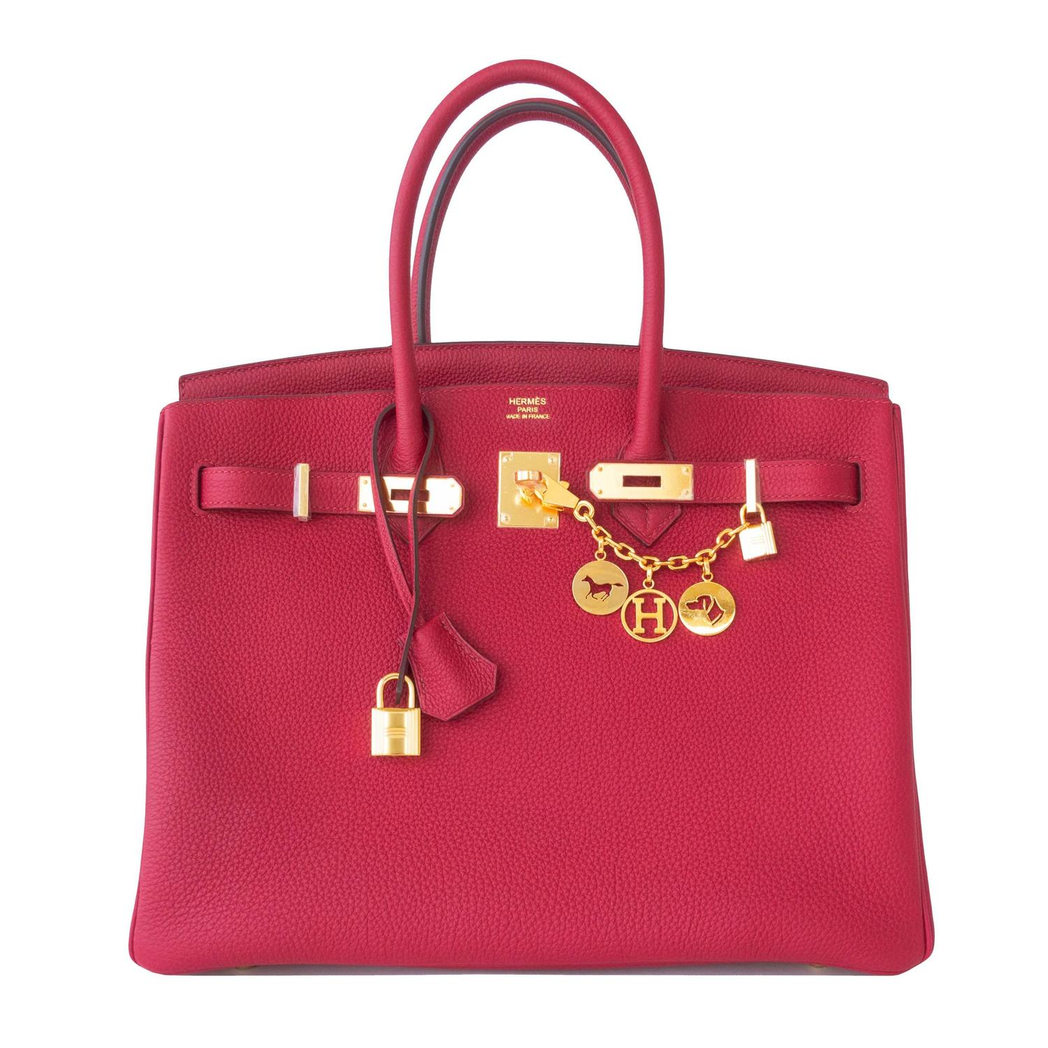 birkin bag look for less - Hermes Rouge Grenat Togo Garnet Red 35cm Birkin Bag Gold Hardware ...