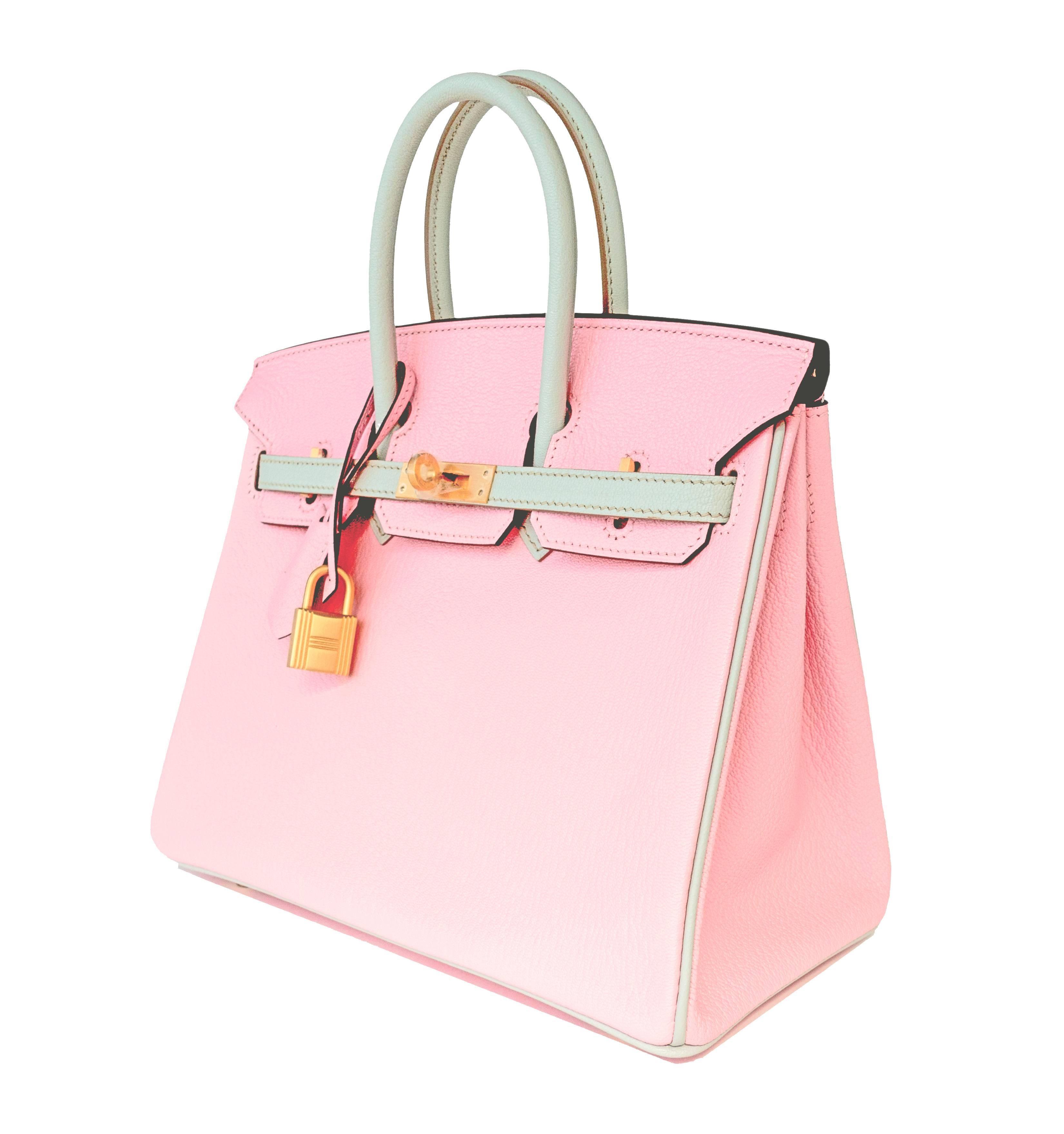 b98263724dd HSS Hermes Rose Sakura Gris Perle 25cm Chevre Birkin Special Order  Horseshoe VIP at 1stdibs