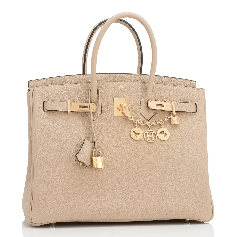 bb49da3e102d ... discount code for hermes trench 35cm togo beige gold hardware birkin bag  for sale at 1stdibs