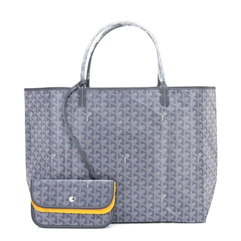 Goyard Grey St Louis GM Chevron Tote Bag Chic 6
