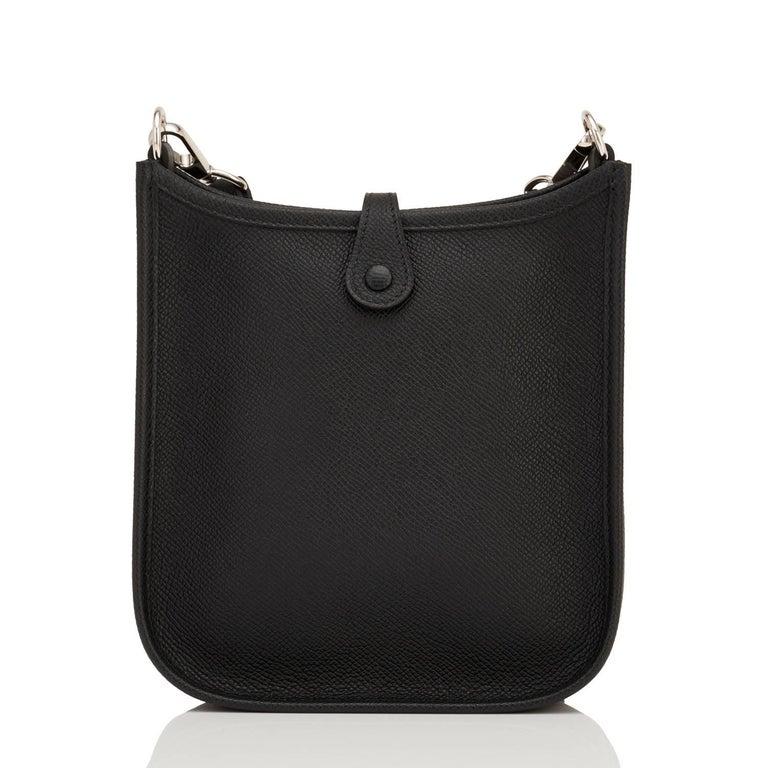 Hermes Black Evelyne TPM Shoulder Cross Body Messenger Bag In New Condition For Sale In New York, NY