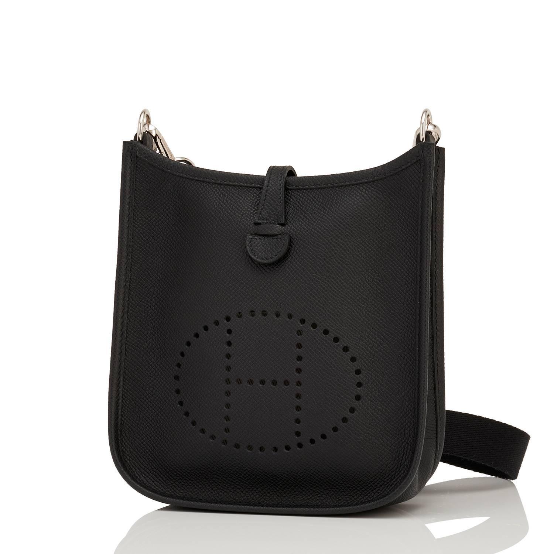 604f045368bf ... discount code for womens or mens hermes black evelyne tpm shoulder  cross body messenger bag for