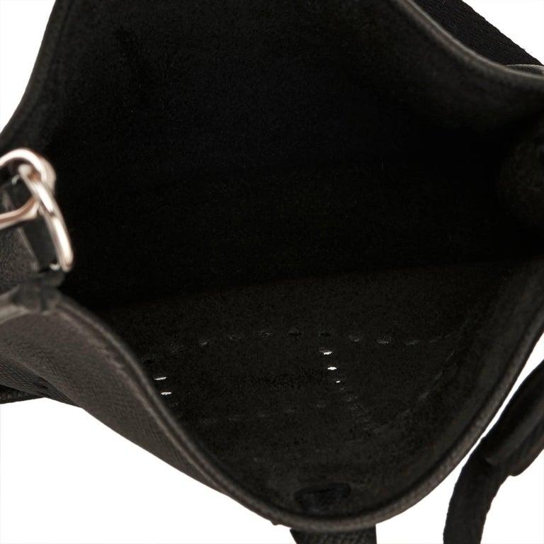 Hermes Black Evelyne TPM Shoulder Cross Body Messenger Bag For Sale 1