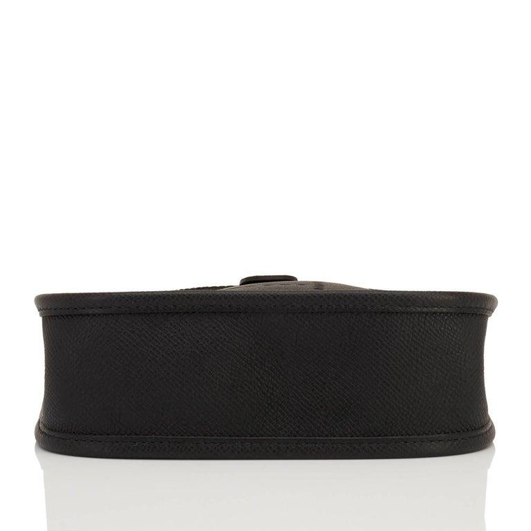 Hermes Black Evelyne TPM Shoulder Cross Body Messenger Bag For Sale 2