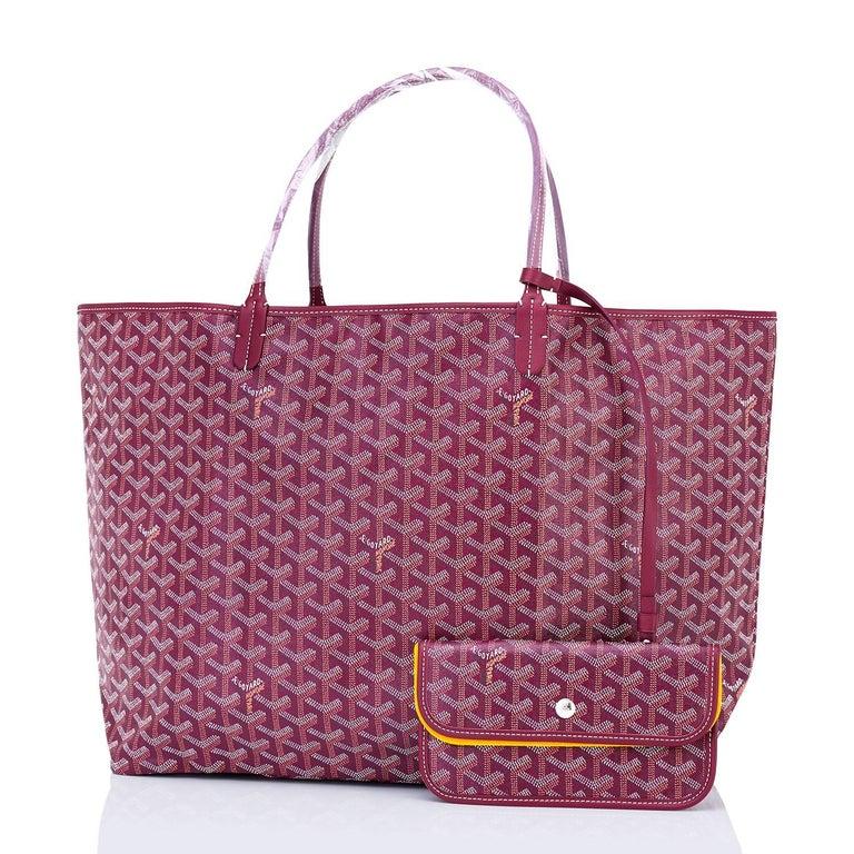 Goyard St Louis Tote Burgundy Chevron Bag Gm Brand New Fresh Pristine Condition