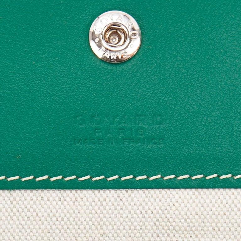 Goyard Tote St Louis Hunter Green Chevron Bag GM 3