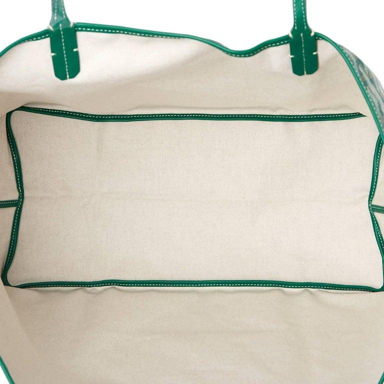 Goyard Tote St Louis Hunter Green Chevron Bag GM 2
