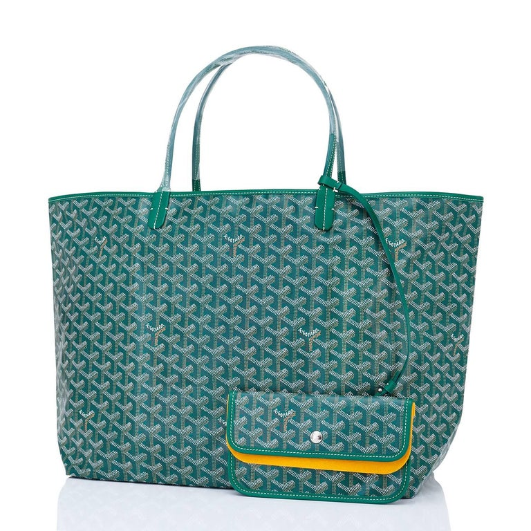 Goyard Tote St Louis Hunter Green Chevron Bag GM Brand New.  Store Fresh. Pristine Condition (with plastic on handles) Perfect gift! Comes with yellow Goyard sleeper, inner organizational pochette with inner yellow protective felt. This is the