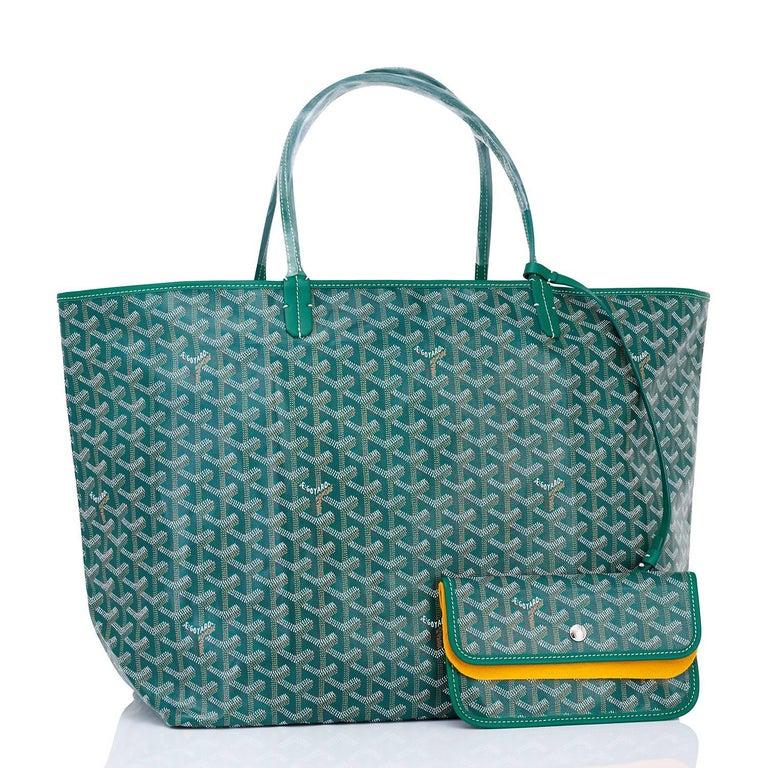 Women's or Men's Goyard Tote St Louis Hunter Green Chevron Bag GM