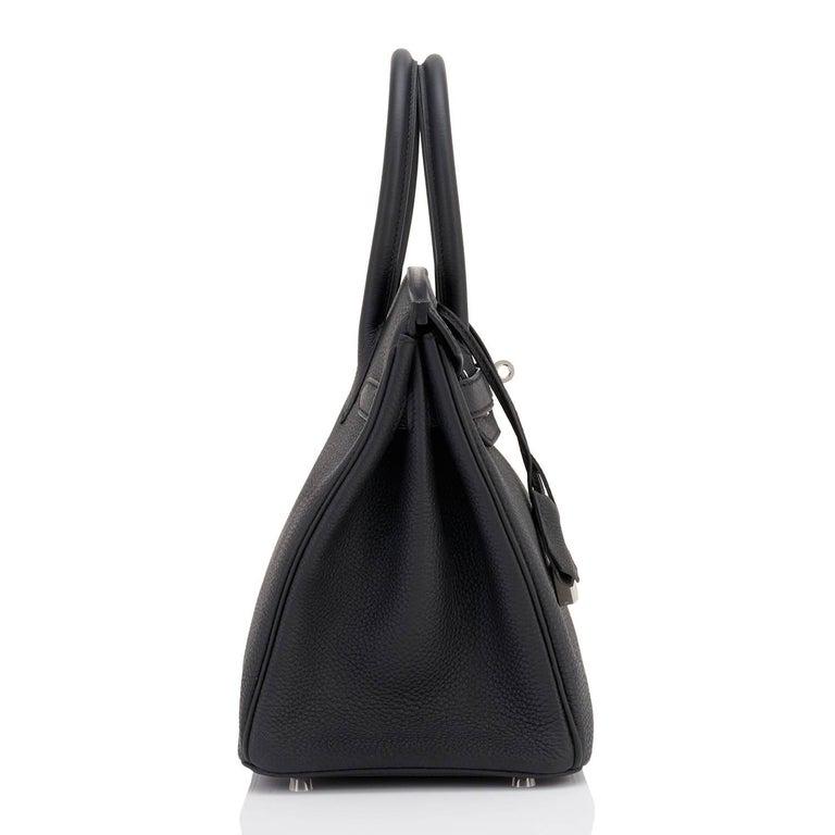 Hermes Birkin 30 Black Togo Palladium Hardware Bag A Stamp 2