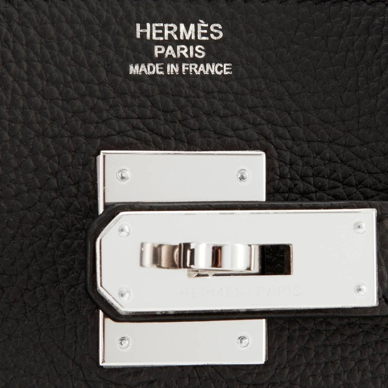 Hermes Birkin 30 Black Togo Palladium Hardware Bag A Stamp 6