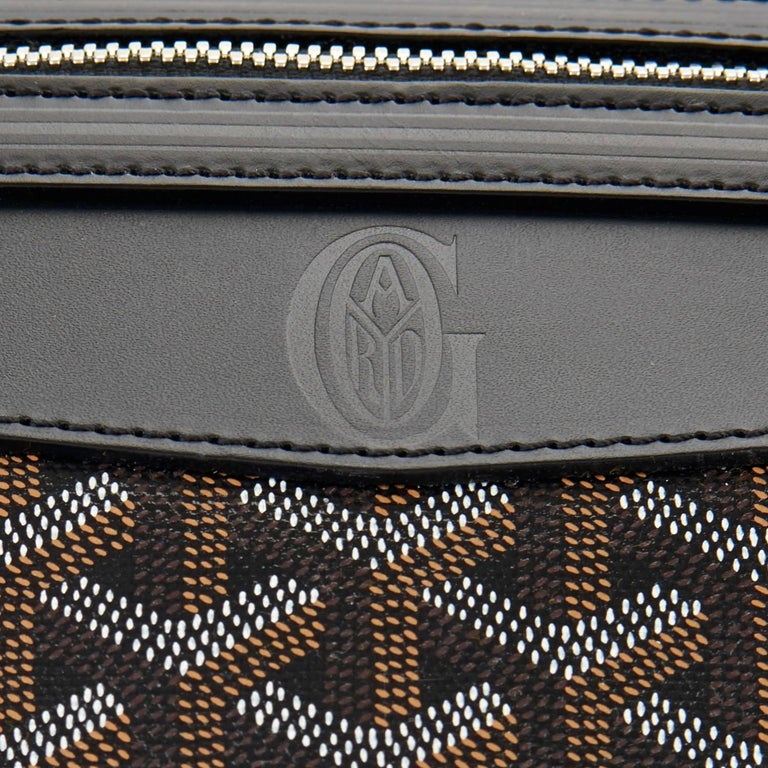Goyard Boeing 45 Duffle Luggage Tote Black Chevron Bag  For Sale 2