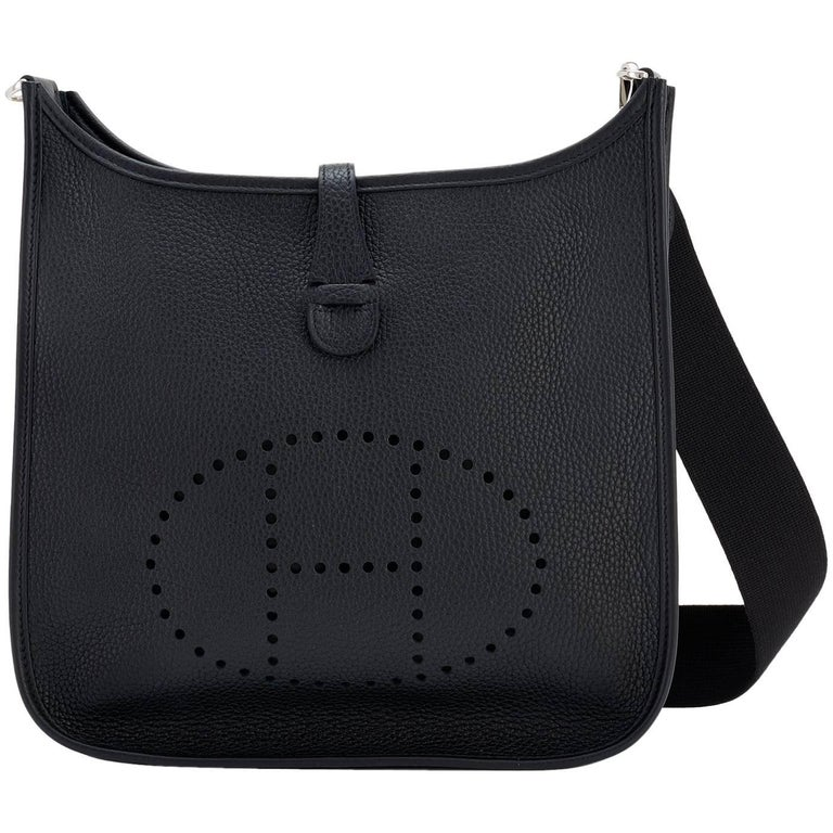 Hermes Black Evelyne Iii Pm Cross Body Messenger Bag C Stamp For