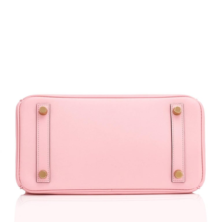 Hermes Swift Gold Hardware Pink Jewel Birkin 25 Rose Sakura Bag  For Sale 3