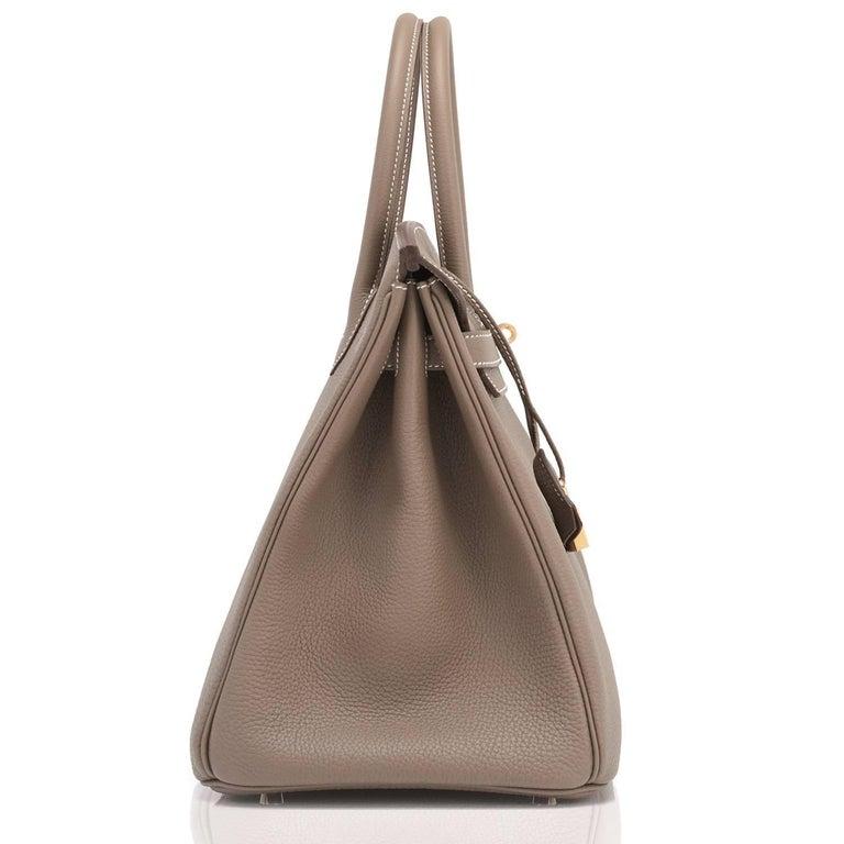 Women's or Men's Hermes 35cm Birkin Etoupe Togo Taupe Gold Hardware Bag