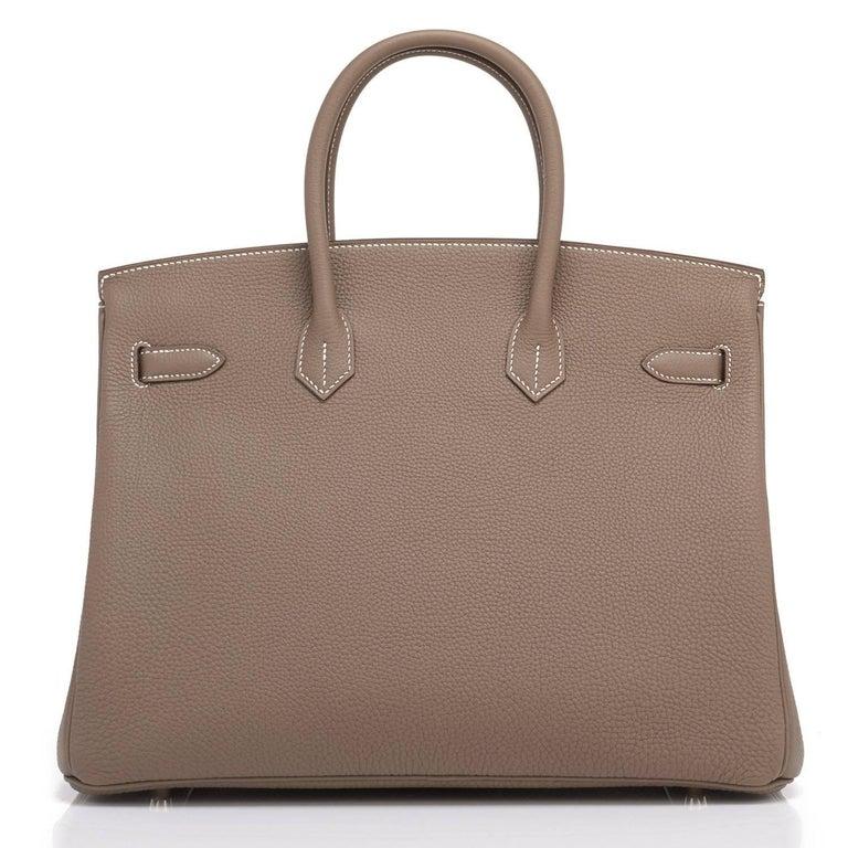 Hermes 35cm Birkin Etoupe Togo Taupe Gold Hardware Bag 1
