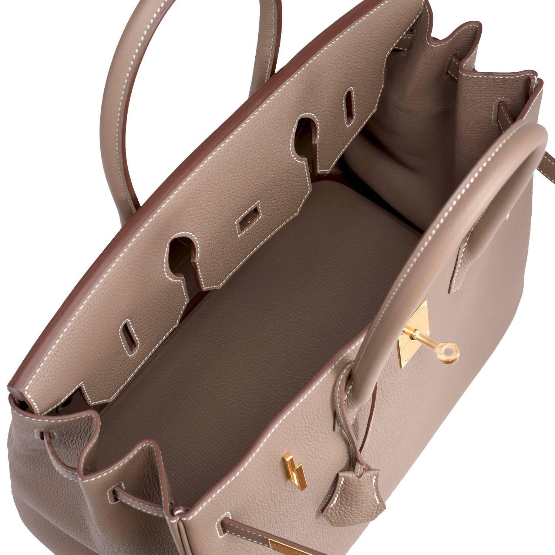 c3e2649394 ... sale hermes 35cm etoupe togo taupe gold hardware c stamp birkin bag for  sale 3 b6b3e ...