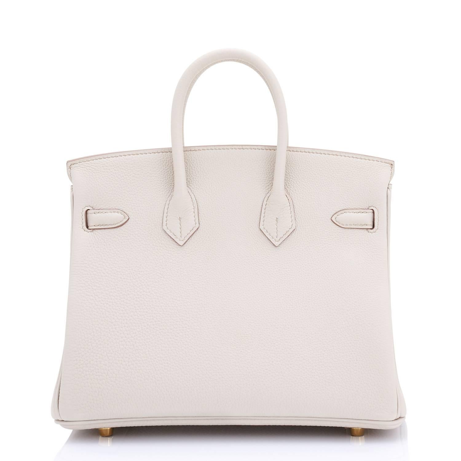 5f1e25f69868 ... usa pink hermes beton 25cm togo gold hardware off white baby birkin bag  for sale 1a6d9