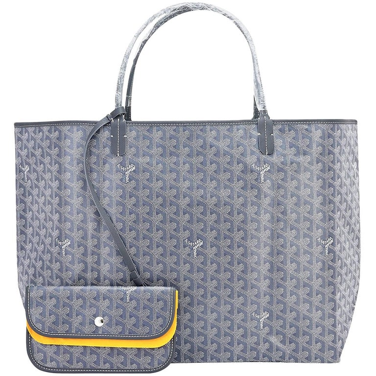Goyard Grey St Louis GM Chevron Tote Bag   For Sale