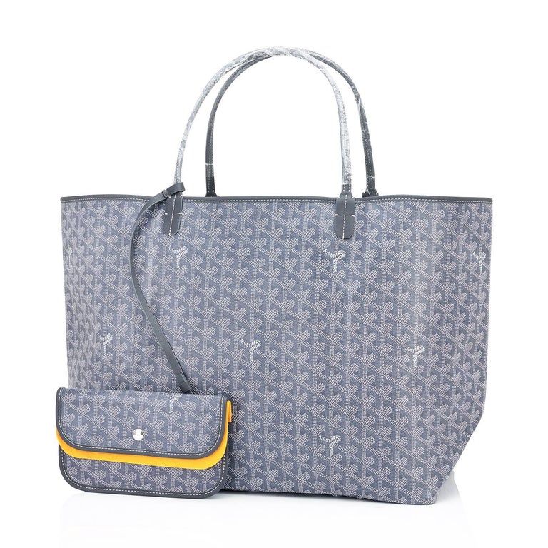 Goyard Grey St Louis GM Chevron Tote Bag  Brand New.  Store Fresh. Pristine Condition (with plastic on handles)  Perfect gift! Comes with yellow Goyard sleeper and inner organizational pochette.  This is the famous Goyard Chevron Tote in the highly