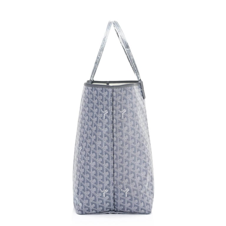 Gray Goyard Grey St Louis GM Chevron Tote Bag   For Sale