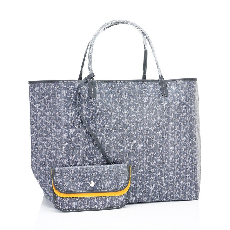 Goyard Grey St Louis GM Chevron Tote Bag   In New Condition For Sale In New York, NY