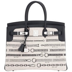 5256190f1029 Hermes VIP 35 De Camp Dechainee Toile Swift Chevre Limited Edition Birkin  Bag