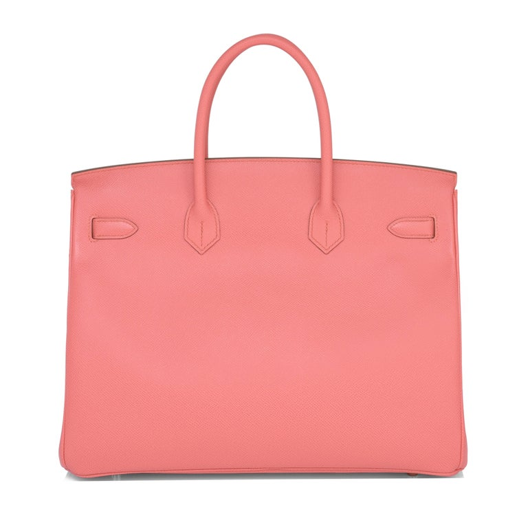 Hermes Flamingo Peach Pink Epsom Gold Hardware Birkin 35cm Bag For Sale 1