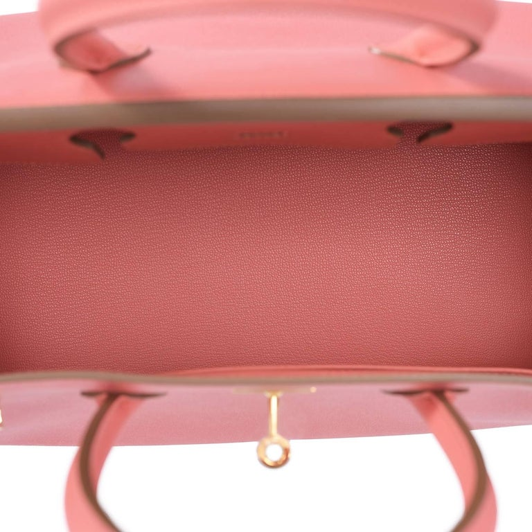 Hermes Flamingo Peach Pink Epsom Gold Hardware Birkin 35cm Bag For Sale 4