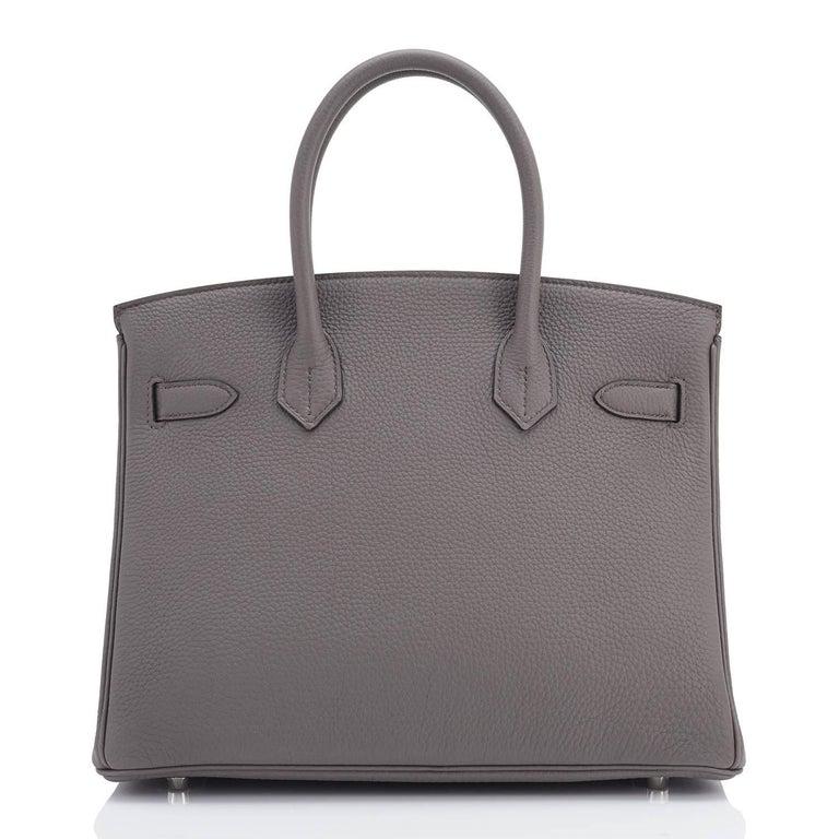 Hermes Birkin 30cm Etain Zinn Graue Palladium Tasche mit C Logo 2018 6