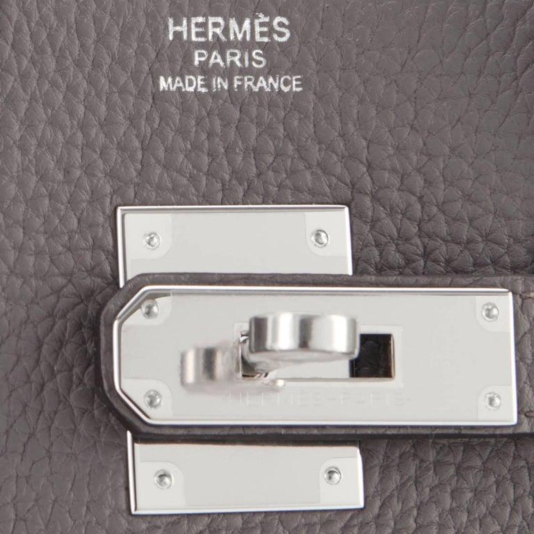 Hermes Birkin 30cm Etain Zinn Graue Palladium Tasche mit C Logo 2018 10