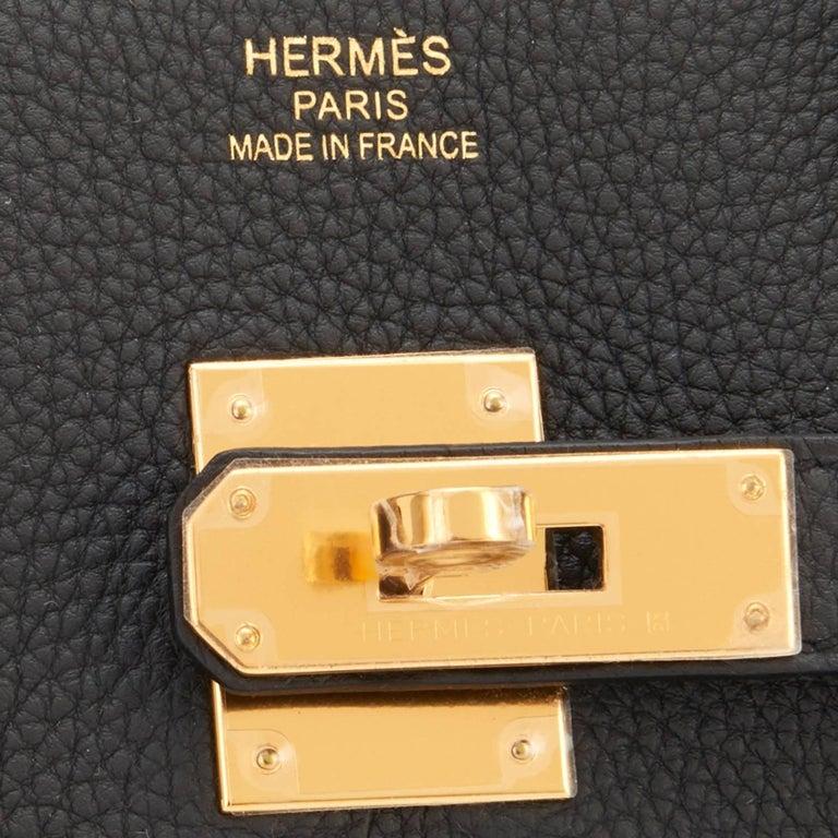 Hermes Birkin 35cm Schwarze Tasche mit Gold Hardware C Logo, 2018 9