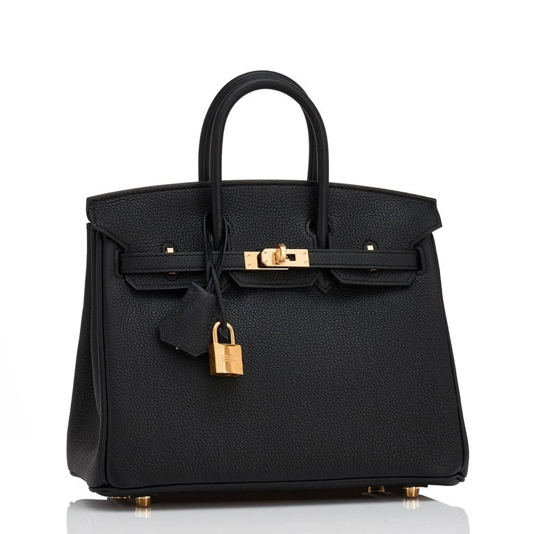 Hermes Black Baby Birkin 25cm Togo Gold Hardware Jewel Brand New in Box. Store Fresh. Pristine Condition (with plastic on hardware)  Perfect gift! Comes full set with keys, lock, clochette, a sleeper for the bag, rain protector, and Hermes box. As