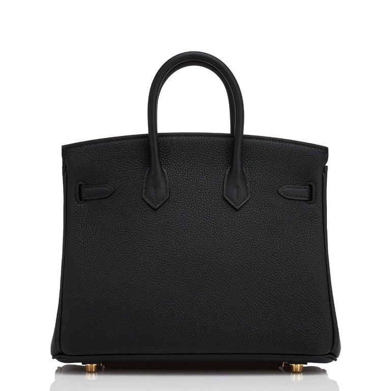 Hermes Birkin 25 cm Schwarze Togo Golddetails C-Logo Birkin Tasche, 2018 5
